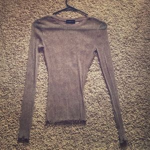 Mesh Stretch Sparkly Long Sleeve